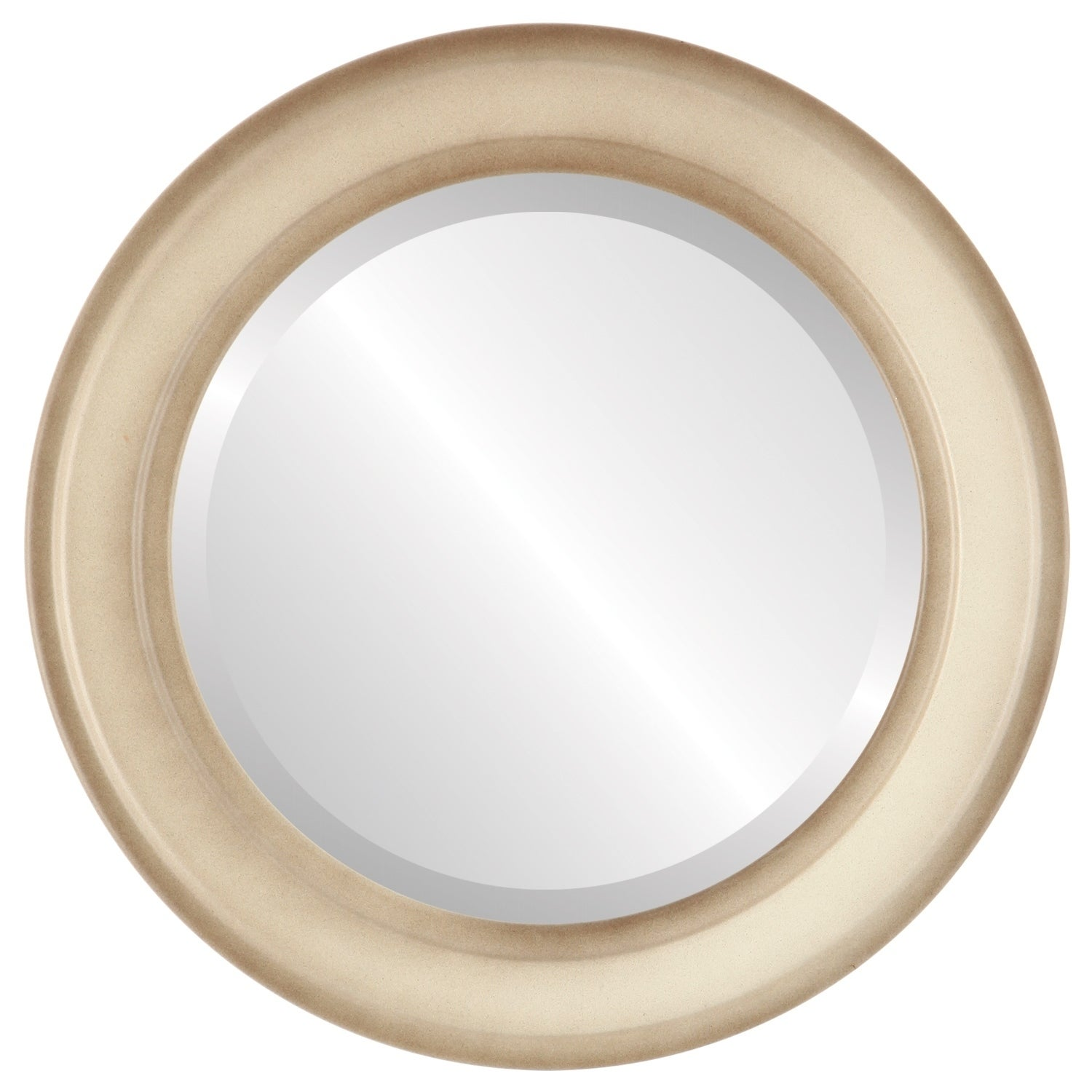 Wright Framed Round Mirror in Taupe (27x27)