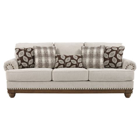 Signature Design by Ashley Harleson Wheat Brown Fabric Traditional Sofa