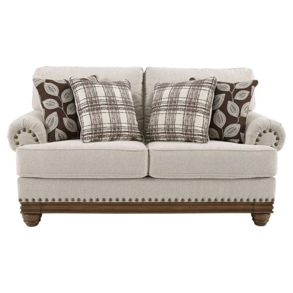Shop Harleson Traditional Wheat Brown Loveseat With