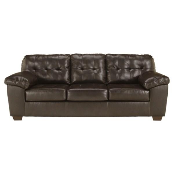 Alliston Contemporary Chocolate Brown Sofa by Ashley