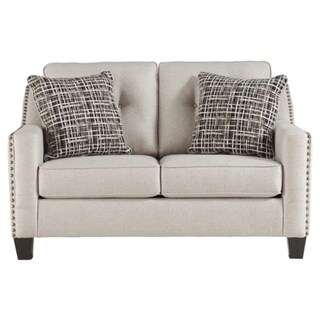 Ashley Signature Design Marrero Fog Grey Fabric Upholstered Contemporary Loveseat