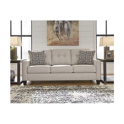 Signature Design By Ashley, Marrero Contemporary Fog Gray Sofa