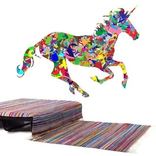 """Horse Running Full Color Wall Decal Sticker AN-391 FRST Size30""""x47"""""""
