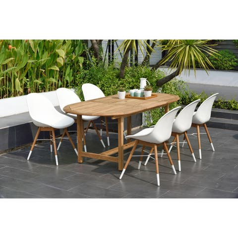 Amazonia Teak Bonita 7-piece Extendable Patio Dining Set