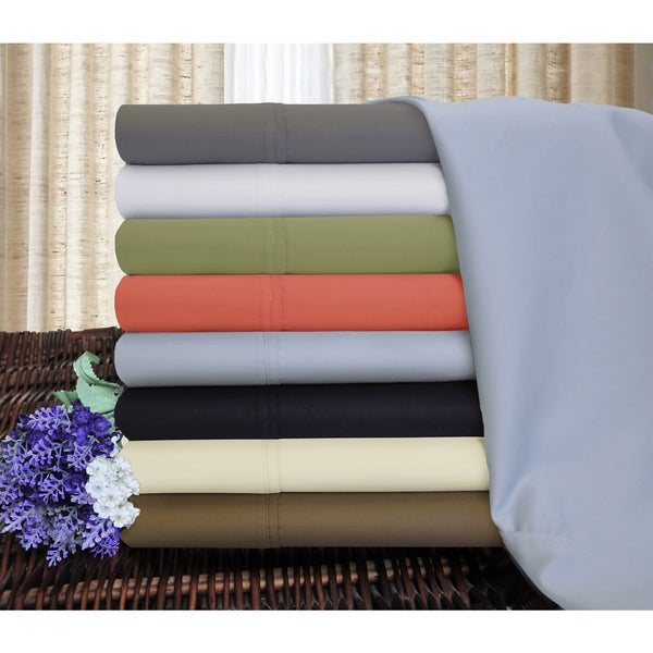 Superior 1200 Thread Count Deep Pocket Cotton Blend Sheet Set - Split King - White (As Is Item). Opens flyout.