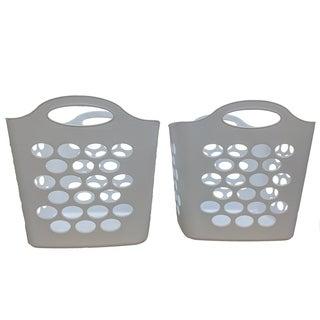 Square Basket White, 2 Pack