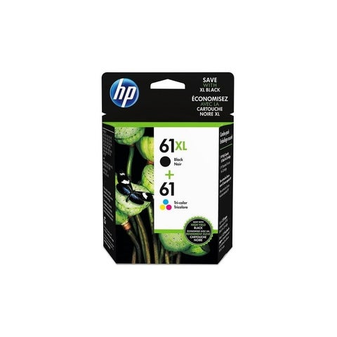 HP 61XL Black High Yield , 61 Standard Tri-Color Ink Cartridges, Multi-Pack,CZ138FN