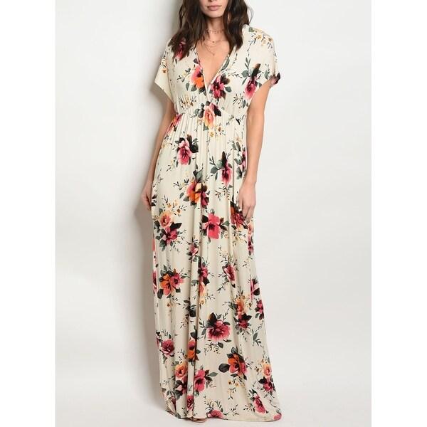 JED Women's Empire Waist Floral Maxi Dress