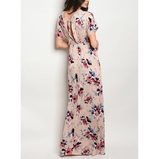 JED Women's Empire Waist Floral Maxi Dress