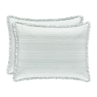 Five Queens Court Hattie Quilted Sham with Ruffle Flange