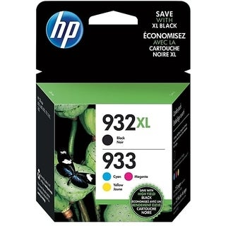 HP 932XL/933 High Yield Black,Standard C/M/Y ink Cartridges -Multi-pack,N9H62FN