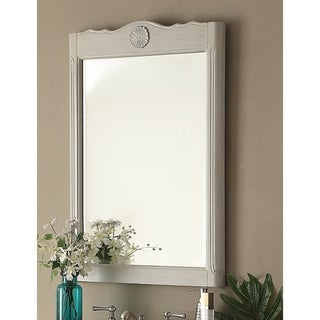"24"" Daleville Wall Mirror Vintage Style Distressed Gray MR-838CK"