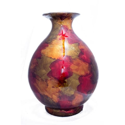 Rachel 19 Inch Foiled & Lacquered Ceramic Vase
