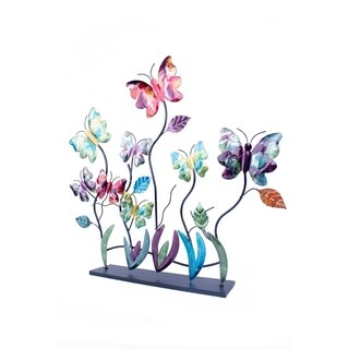 Butterflies Foiled and Lacquered Table Top Decorative accent