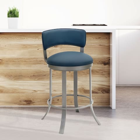 Buy Blue Swivel Transitional Counter Amp Bar Stools Online