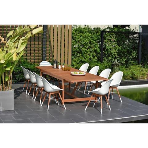 Amazonia Bonita 11 piece Extendable Rectangular Patio Dining Set