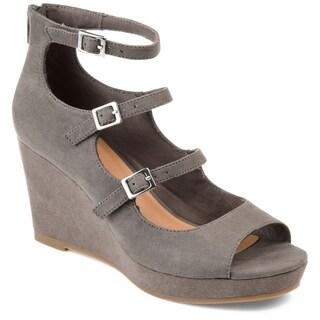 Journee Collection Women's 'Skyla' Strappy Open-toe Wedges
