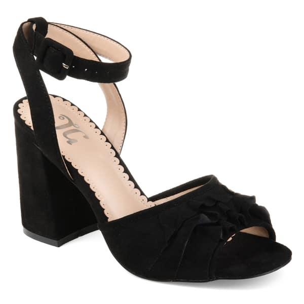 bd2f99754e5 Shop Journee Collection Women's 'Becca' Ankle-strap Ruffle Heels ...