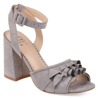 Journee Collection Women's 'Becca' Ankle-strap Ruffle Heels