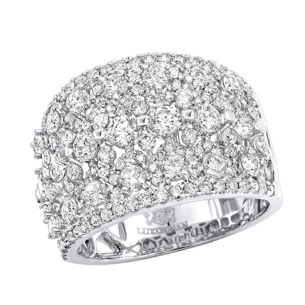 Shop Luxurman Unique Wide 14k Gold Diamond Band Ladies Ring 2 75ctw G H Color Overstock 20732353