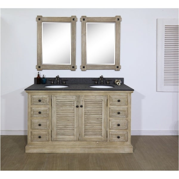 Shop 60 Solid Recycled Fir Double Sink Vanity With Polished Textured