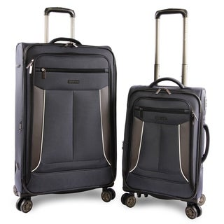 Perry Ellis Viceroy 2-pc Spinner Expandable Luggage Set, Navy