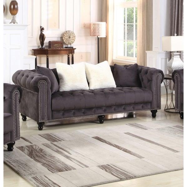 Best Master Furniture Upholstered Grey Sofa. Opens flyout.