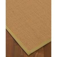 NaturalAreaRugs Sonoma Wool Area Rug Hand-Woven Sand Border (9' x 12')