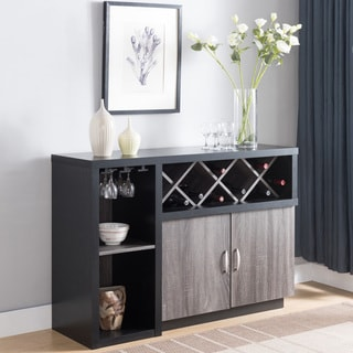 Furniture Of America Lantana Contemporary Two Tone Wine Cabinet Buffet   N/A
