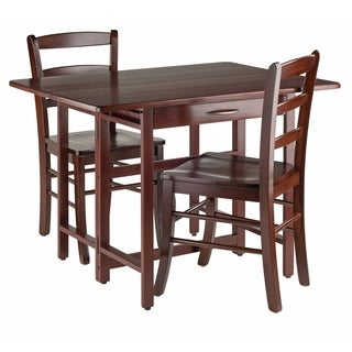 Taylor 3-Pc Set Drop Leaf Table w/ Ladder Back Chair