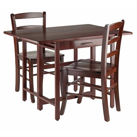 Taylor 3-Pc Set Drop Leaf Table w/ Ladder Back Chair