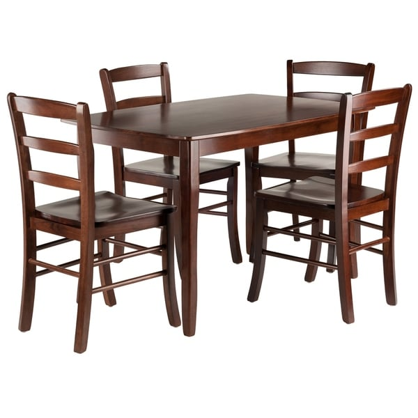5pc Dining Table Set: Shop Inglewood 5-PC Set Dining Table W/ 4 Ladderback