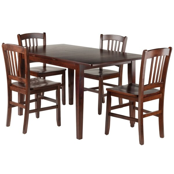 Shop Anna 5-PC Dining Table Set W/ Slat Back Chairs
