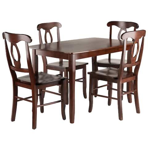 Inglewood 5-PC Set Dining Table w/ 4 Key Hole Back Chairs