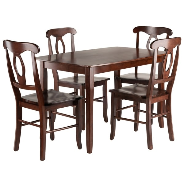 55722aef7ee76 Shop Inglewood 5-PC Set Dining Table w/ 4 Key Hole Back Chairs ...