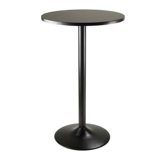 Pub Table Round Black MDF Top with Black leg and base