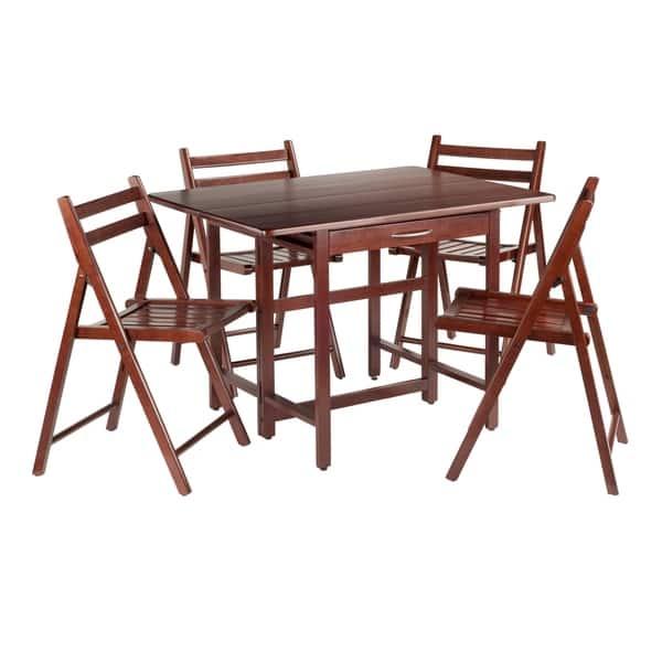 Pleasing Shop Taylor 5 Pc Set Drop Leaf Table W 4 Folding Chairs Machost Co Dining Chair Design Ideas Machostcouk