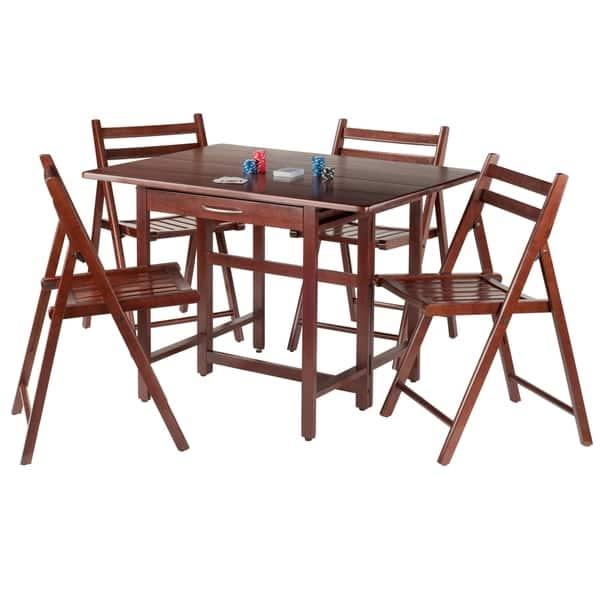 Stupendous Shop Taylor 5 Pc Set Drop Leaf Table W 4 Folding Chairs Machost Co Dining Chair Design Ideas Machostcouk