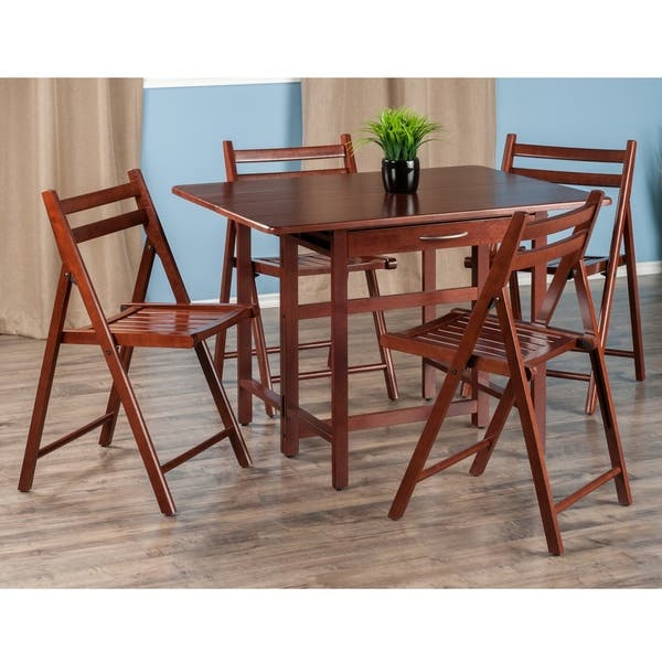 Remarkable Shop Taylor 5 Pc Set Drop Leaf Table W 4 Folding Chairs Onthecornerstone Fun Painted Chair Ideas Images Onthecornerstoneorg