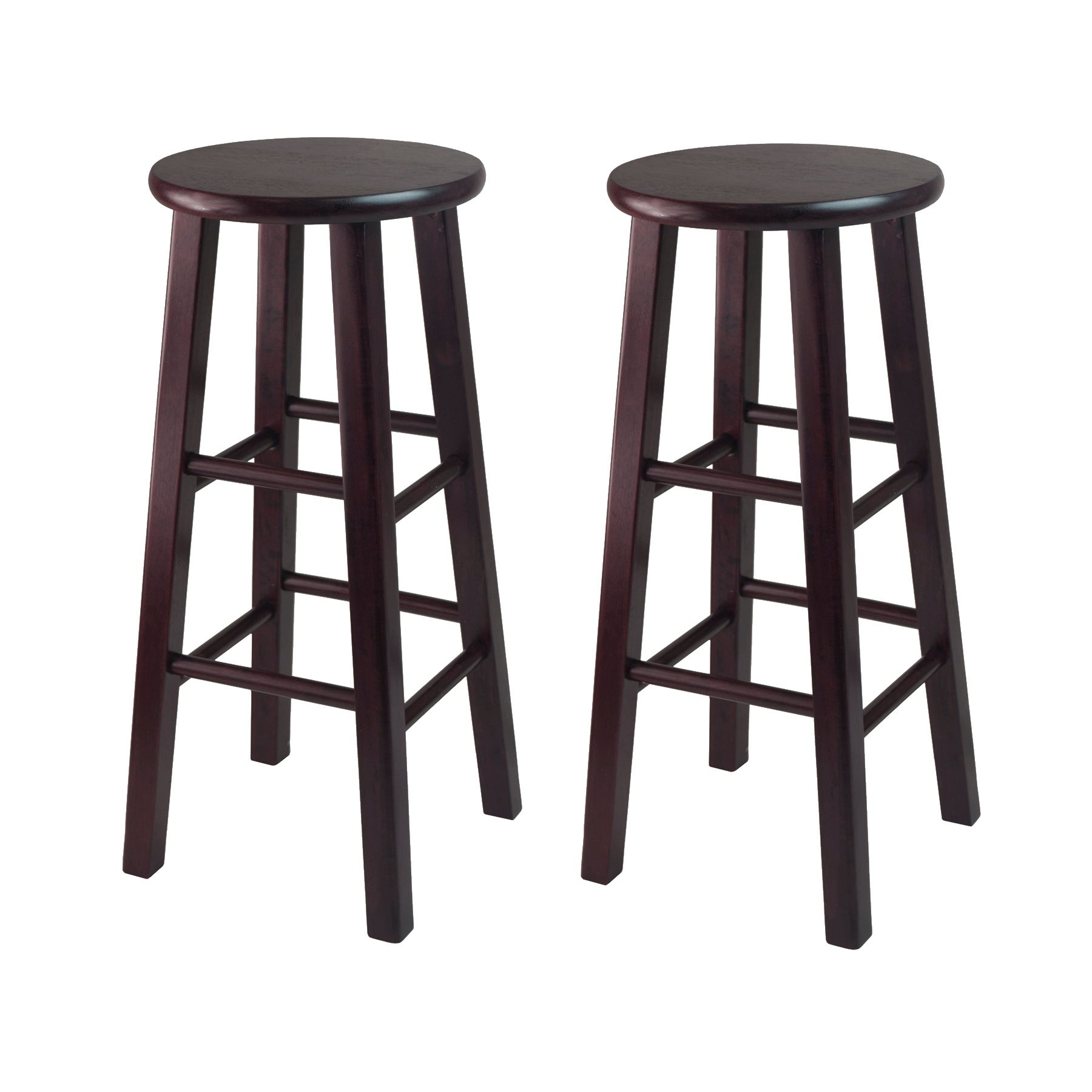 Excellent Pacey 2 Pc 29 Bar Stool Set Espresso Gmtry Best Dining Table And Chair Ideas Images Gmtryco