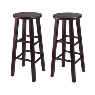 Shop Pacey 2 Pc 24 Quot Bar Stool Set Black Free Shipping