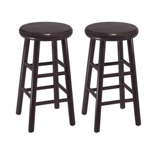 "Link to Oakley 2-Pc 24"" Swivel Seat Bar Stool Set Dark Espresso Similar Items in Dining Room & Bar Furniture"