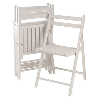Robin 4-PC Folding Chair Set White  sc 1 st  Overstock.com & Winsome Wood Kitchen u0026 Dining Room Chairs For Less | Overstock.com