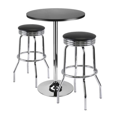 """Summit 3-Pc Bar Table Set, 24"""" Table and 2 Stools"""