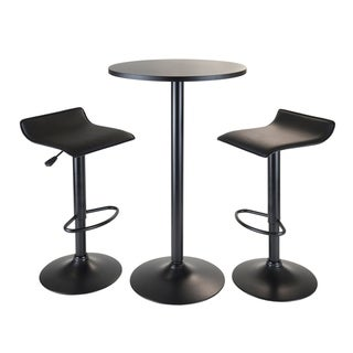 Link to Obsidian 3pc Pub Set, Round Table with 2 Airlift Stools all Black - N/A Similar Items in Table Games