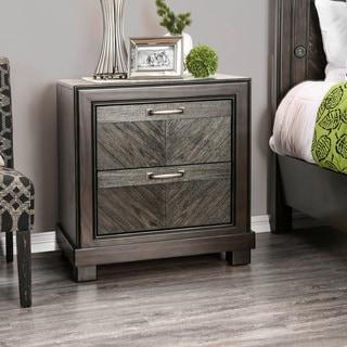 Furniture of America Moso Contemporary Espresso Wood Nightstand