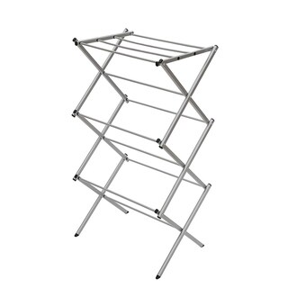 STORAGE MANIAC 3-tier Folding Water-Resistant Compact Steel Clothes Drying Rack - 22.44x14.57x41.34 - Inches