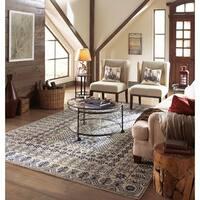 Copper Grove Kavir Hand-tufted Blue Oriental Pattern Wool Runner Rug - 2'6 x 8'