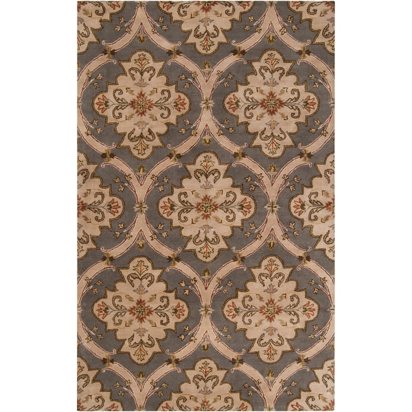 Copper Grove Cedria Hand-tufted Green Wool Area Rug - 6' x 9'