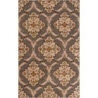 Copper Grove Cedria Hand-tufted Green Wool Area Rug